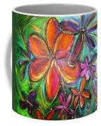 Winter Glow Flower Painting Coffee Mug