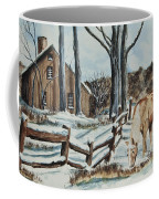 Winter Grazing  Coffee Mug by Charlotte Blanchard
