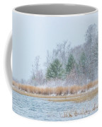 Winter Hoarfrost On The River Coffee Mug