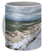 Winter Ice On Lake Michigan Ll Coffee Mug