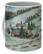 Winter In East Chatham Vermont Coffee Mug