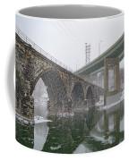 Winter In East Falls Along The Schuylkill River Coffee Mug