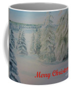Winter In Gyllbergen Merry Christmas Red Text Coffee Mug