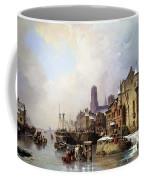 Winter In Konigsberg Coffee Mug by Ludwig Hermann