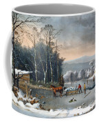 Winter In The Country Coffee Mug by Currier and Ives