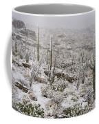 Winter In The Desert Coffee Mug by Sandra Bronstein