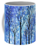 Winter In The Woods Abstract Coffee Mug