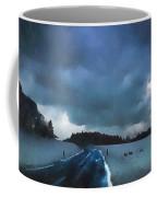 winter landscape at Dusk Coffee Mug