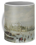 Winter Landscape Coffee Mug by Barent Avercamp