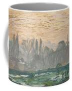 Winter Landscape With Evening Sky Coffee Mug