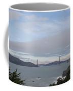 Winter Landscape With Golden Gate Bridge Coffee Mug