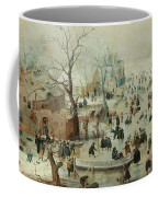 Winter Landscape With Ice Skaters1608 Coffee Mug