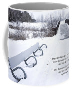 winter landscape with Inspirational Text Coffee Mug