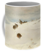 Winter Landscape With Partridges Coffee Mug