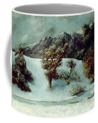 Winter Landscape With The Dents Du Midi Coffee Mug by Gustave Courbet