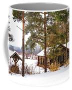 Winter Log Cabin 3 - Paint Coffee Mug