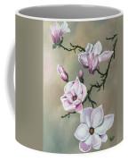Winter Magnolia Blooms Coffee Mug