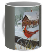 Winter Male Cardinal Coffee Mug