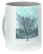 Winter Mimosa Painterly Coffee Mug
