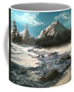 Winter Mountain Stream Coffee Mug by Jack Skinner
