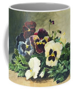Winter Pansies Coffee Mug
