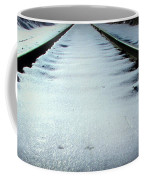 Winter Railroad Tracks Coffee Mug