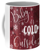 Winter Rustic Wood Sign Coffee Mug