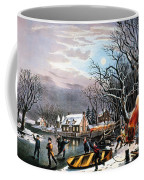 Winter Scene: Evening 1854 Coffee Mug