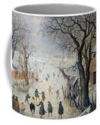 Winter Scene Coffee Mug by Hendrik Avercamp