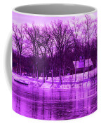 Winter Scene In Violet Coffee Mug