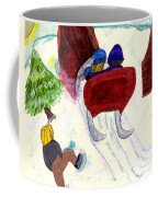 Winter Sleigh Ride Through The Tunnel Coffee Mug