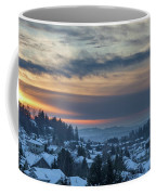 Winter Snow At Sunset In Happy Valley Oregon  Coffee Mug