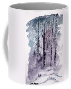 Winter Snow Landscape Painting Print Coffee Mug
