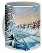 Winter Snow Tracks Coffee Mug