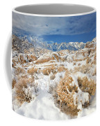 Winter Snowstorm Blankets The Alabama Hills California Coffee Mug