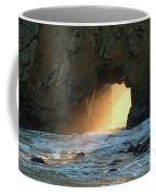 Winter Solstice Sunset In Big Sur Coffee Mug