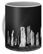 Winter Storm Sky Over Callanish. Outer Hebrides, Scotland.    Black And White Coffee Mug