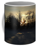 Winter Sunrise Shadows Coffee Mug