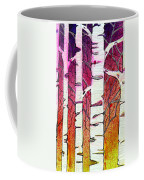 Winter Sunset Birch Coffee Mug