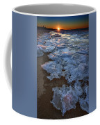 Winter Sunset On Fire Island Coffee Mug