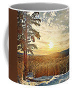 Winter Sunset Over The Mountains Coffee Mug
