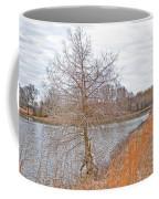 Winter Tree On Pond Shore Coffee Mug