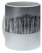 Winter Tree Symmetry Long Horizontal Coffee Mug