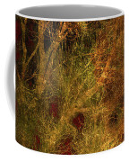 Winter Trees In Gold And Red Coffee Mug