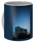 Winter Trees On The Background Of The Night Sky Coffee Mug