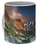 Winter Tunnel View Yosemite National Park  Coffee Mug