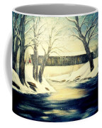 Winter Walk At Bennett's Mill Bridge Coffee Mug