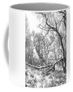Winter Woods On A Stormy Day 2 Bw Coffee Mug