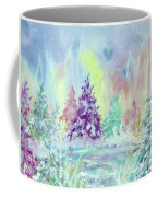 Winter Wonderland Aurora Borealis  Coffee Mug