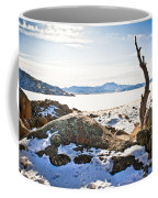 Winter's Silence - Pathfinder Reservoir - Wyoming Coffee Mug